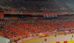Fans von Shandong Luneng in China, Fußball