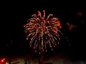 Feuerwerk, Tag der Republik in China, Reisebericht von Atlasprof Detlef Müller